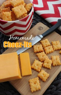 Homemade Cheez-Its: a great recipe that you can feel good about sending with your kids to snack on at school! Click through for the recipe... Raining Hot Coupons