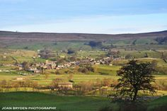 Askrigg from the descent of Worton Scar The Descent, Yorkshire Dales, England And Scotland, I Fall In Love, Beautiful Landscapes, Britain, Photo Galleries, Royalty Free Stock Photos, History