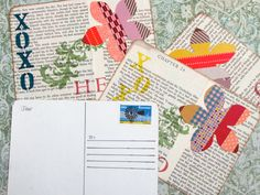 I'm all about sending and receiving real mail. Do you remember real mail? You know – letters, postcards and cards? There's nothing better than sorting through a pile of mail and finding something other than a bill: I call it happy mail! It turns out you can make your own happy mail with recycled cardboard and …