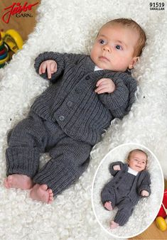 Knitting Patterns For Layette Sets - Diy Crafts - DIY & Crafts Knit Baby Pants, Baby Boy Cardigan, Knitted Baby Clothes, Baby Leggings, Baby Boy Knitting, Knitting For Kids, Baby Knitting Patterns, Baby Sewing, Baby Patterns