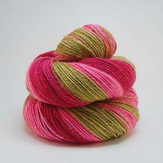 Cranberry Bog- Handspun Yarn Polworth/silk