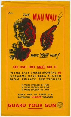 Is this a propoganda poster made by the British colonial administration in Kenya at the time of the Mau Mau uprising????