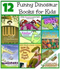 funny dinosaur books for kids the measured mom Book Lists Dinosaur Books For Kids, Dinosaur Theme Preschool, Dinosaur Activities, Preschool Books, Book Activities, Childrens Books, Children Activities, Preschool Printables, Preschool Lessons