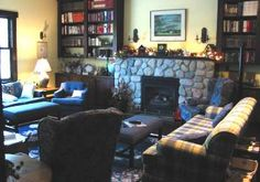 Room at On The Pond, Mactaquac, NB. Super library/media/reading room