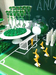 Detalhes que fazem a diferença..Palmeiras, futebol, festa infantil!! Soccer Party