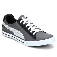 Puma Grey Black Sneaker Shoe