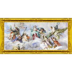 QUADRO ANGELI IN PARADISO CON CORNICE #angeli #angelo #angels #madeinitaly #paintings #pictures #pintdecor #graphicollection