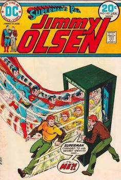 Superman's Pal Jimmy Olsen #162 Lex Luthor uses clones of Jimmy Olsen to steal for him, as part of a plan to ultimately humiliate Olsen and Superman. Nick Cardy Cover Artist.