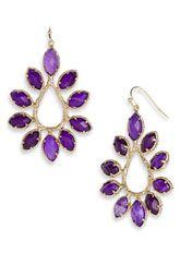 Kendra Scott 'Nyla' Large Teardrop Floral Earrings
