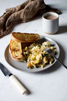 smokey chipotle scrambled eggs with zucchini and mozzarella.