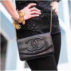CHANEL bag + bracelets