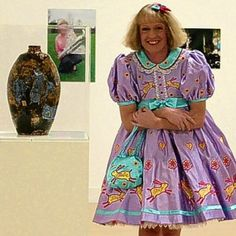 Grayson Perry as Claire Grayson Perry, Men Wearing Dresses, Turner Prize, Gallery Of Modern Art, Photo Colour, My Guy, Artist At Work, Contemporary Artists, Style Me