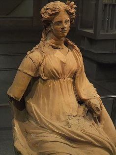 Etruscan terracotta votive Statue of a female from a sanctuary in the Valle Aricci C.350 BCE