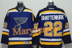 """$34.88 per one, welcome email """"MaryJersey"""" at maryjerseyelway@gmail.com for Blues 22 Kevin Shattenkirk Light Blue Home Stitched NHL Jersey"""