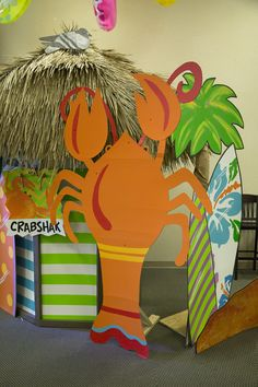 Fun hallway decorations for Ocean Commotion VBS #vbs2016