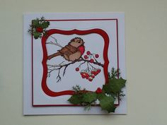 Christmas card using stampendous stamp and spellbinder dies.
