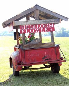 outdoor market display ... cool idea for selling anything (craft, jewellery, etc. Set up as a trailer that can be towed.