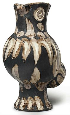 Picasso Ceramic Madoura Sculpture Signed, Owl, 1969