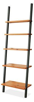 Gallery Leaning Shelves in Natural Steel - Bookcases & Shelves - Living - Room & Board