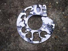 """""""The Cage"""" rotor guard with winter camouflage paint. Their Facebook page:https://www.facebook.com/cagehardcourt"""