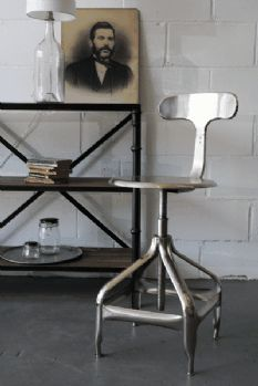 Industrial Architect's Bar Stool