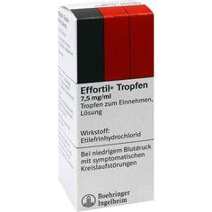 EFFORTIL Tropfen bei niedrigem Blutdruck:   Packungsinhalt: 50 ml Lösung PZN: 03194826 Hersteller: Boehringer Ingelheim Pharma GmbH &…