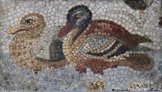 Ducks, fragment of a Roman mosaic