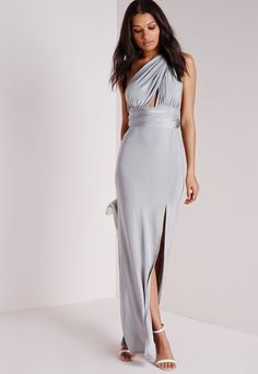 Robe longue transformable grise - Robes - Robes longues - Missguided