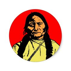SITTING BULL CLASSIC ROUND STICKER