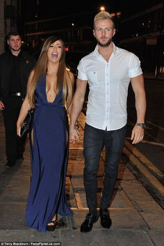 Loved up: The reality star is dating Kyle Christie who was also out filming on Tuesday nig...