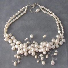 Handmade Sakura Pearl Flower Necklace (Thailand)