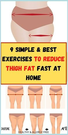 9 Simple & Best Exercises To Reduce Thigh Fat Fast At Home ! Reduce Thigh Fat, Exercise To Reduce Thighs, Healthy Habbits, Health Planner, Healthy Lifestyle Habits, Health Facts, Mental Health, Health Diet, Fat Fast