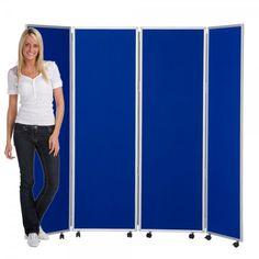 Panelwarehouse Mobile Room Divider 1800mm high 5 Panels