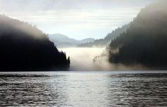 Ocean mists in British Columbia, Canada.