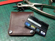 #leatherwallet #minibifold #handmade
