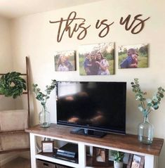 75 amazing living room wall decor ideas 61 ~ Design And Decoration My Living Room, Home And Living, Modern Living, Tv Stand Ideas For Living Room, Living Room Decorating Ideas, How To Decorate Living Room Walls, Living Room Picture Ideas, Wall Decor Above Tv, Living Room Wall Decor Ideas Above Couch