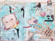 Maria Schmidt/ Scrap-Art-Design Schmidt, Art Journaling, Mixed Media, Scrap, My Arts, Studio, Create, Mothers Love, Art Diary
