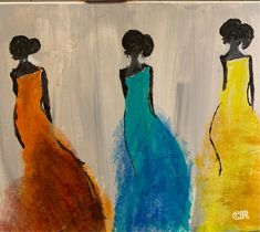 Colourful and beautifully simple acrylic work from Chicago based artist, Chanda Acrylic Frames, Painting People, Lovers Art, Chicago, Portrait, Lady, Simple, Artist, Artwork
