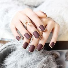 ruffian inspired fall nails
