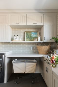 SM Ranch House: The Mudroom, Laundry Room, and Powder Bath