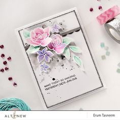 Card using @Altenew Amazing You stamp set by @pr0digy0
