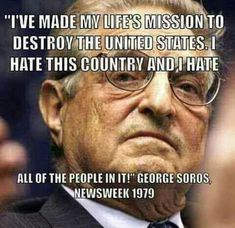 Democrat Party anti-America big boss George Soros, along with other Silicon Valley billionaires, appear to be funding Fusion GPS. From Independent Sentinel: George Soros, along wit… George Soros, Illuminati, Donald Trump, Islam, Religion, Liberal Logic, Politicians, Liberal Democrats, Sick