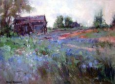 """Spring Fields by Mary Maxam Oil ~ 12"""" x 16"""""""