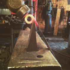 """""""I don't know if the counts as a """"legit"""" technique. My dad always kept the hardy near by to tuck that little end in when rolling #hinge barrels. Some use a """"scroll starter"""" hardy but this works in a pinch.""""  :Cloverdale Forge/Matt Jenkins"""