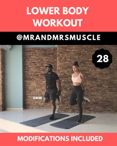Legs and Glutes Workout // Lower Body HIIT // Bodyweight // Mr and Mrs Muscle Full Body Hiit Workout, Gym Workout Videos, Fitness Workout For Women, Fitness Workouts, Butt Workout, At Home Workouts, Fitness Logo, Yoga Fitness, Fitness Motivation
