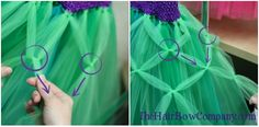 Learn how to make a tutu using a crochet headband and tulle. This tutorial is for the most basic tutu. It's a solid colored tutu with two layers of tulle. Diy Tutu, Tutu En Tulle, No Sew Tutu, Tulle Dress, Ariel Tutu Dress, Sewing For Kids, Diy For Kids, Tulle Crafts, Tulle Projects
