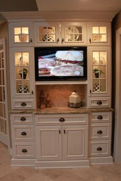 Best looking built-in kitchen tv I have seen that was not hidden behind doors