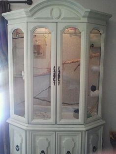 DIY china hutch habitat for birds or maybe sugargliders. I don't think I will ever have sugar gliders again, but if I do this is absolutely the home I would want for them! Beautiful!