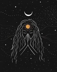 Namaste [Original] is part of Realistic drawings Tutorial Art Lessons - This is my original drawing on black paper with metallic pens only one available! Please feel free to send me a message if you have any questions! Psychedelic Art, Inspiration Art, Art Inspo, Diy Tattoo, Tattoo Ideas, Moon Art, Aesthetic Art, Cute Wallpapers, Mini Tattoos