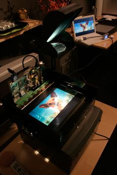 This is an other Instructable about how to build your own cheap LCD projector, but with some improvements.More information about this project here, here and hereThe...